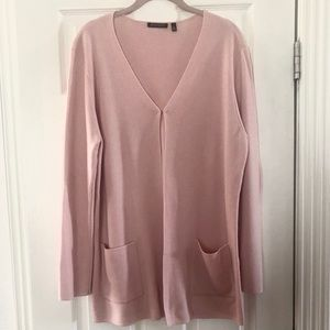 ANNE KLEIN XL pink cardigan long